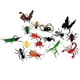 Plastic Bug Toys - 18 Colorful Giant Insect Figures - By Insect Lore