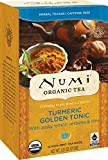Numi Organic Turmeric Tea, Golden Tonic, Blended with w/Lemon Verbena & Lime, 12 Count non-GMO Tea Bags, 3 Count