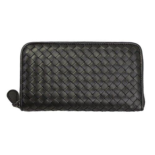 bottega-veneta-intrecciato-zip-around-long-wallet-132358-v0041-black
