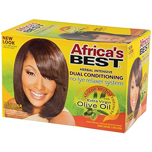(Africa's Best Super No-lye Dual Conditioning Relaxer System, (Pack of 2))