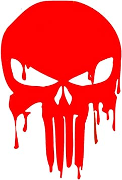 THE PUNISHER Skull Head Car Window Bumper Laptop Vinyl Reflective Sticker Decal