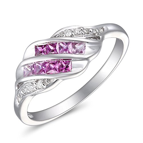 - Ferhe New York Independence Day Sale, 14K Gold, Diamond & Pink Sapphire & Ruby Ring,Diamond Ring,Pink Sapphire & Ruby Ring
