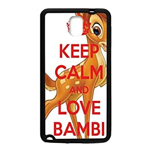 QQQO Keep calm and love bambi Case Cover For samsung galaxy Note3 Case