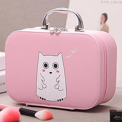 LULANPetit Sac cosmétique cosmétique portable grand voyage boîte simple admission étanche ,25.5*11.5*18.5cm, grande rose