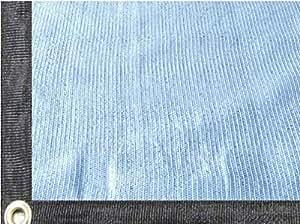 """easyshade 80% calidad blanco Bloqueador solar shade Cloth selladas borde con ojales UV 61/2""""x 10"""""""
