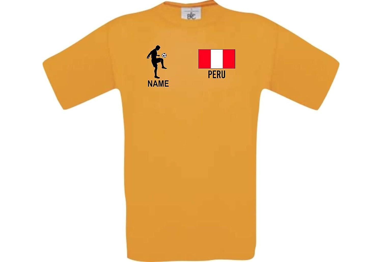 Shirtstown Camiseta De Hombres Camiseta de Fútbol Perú con Su Nombre Deseado Estampado: Amazon.es: Ropa y accesorios