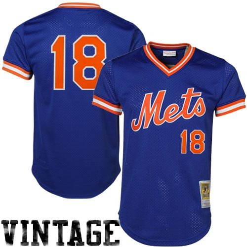 Mitchell & Ness Men's New York Mets Darryl Strawberry #18 Mesh Batting Practice Jersey – Sports Center Store