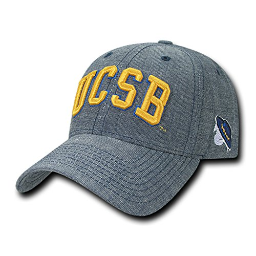 (University of California Santa Barbara UCSB Gauchos Cotton Washed Denim Structured Baseball Ball Cap Hat)