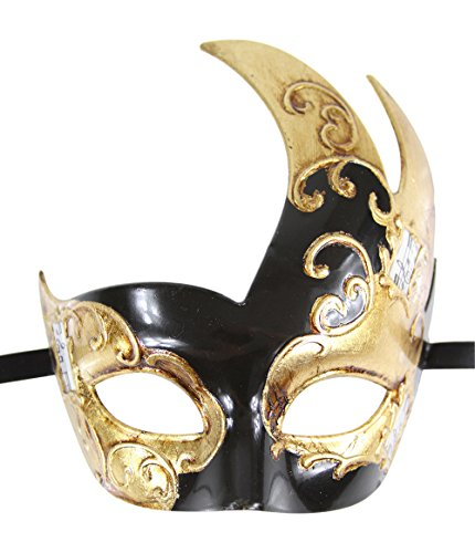 Luxury Mask Men's Vintage Design Masquerade Mask - Black/Gold Musical]()