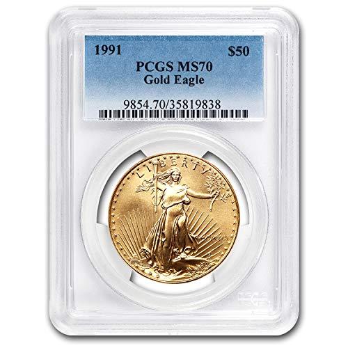 1991 1 oz Gold American Eagle MS-70 PCGS 1 OZ MS-70 PCGS