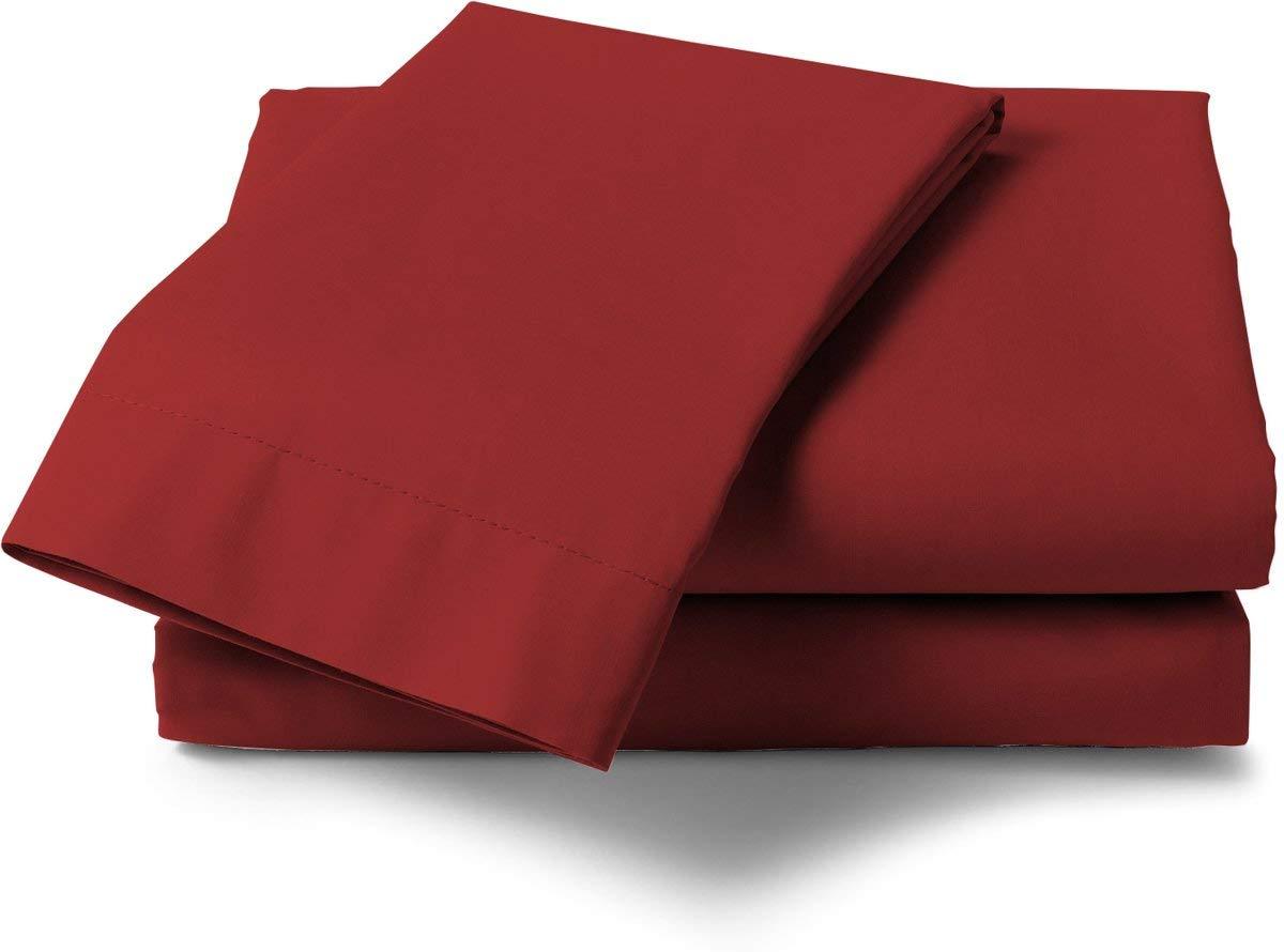 Hecket /& Lane Baumwoll Perkal Laken zum Auflegen I Gr/ö/ße 160x260 cm I Fabe Aurora Red
