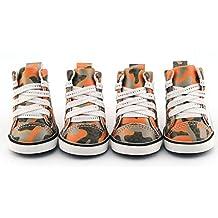 Dofull PU pet shoes leather shoes camouflage dog(DSN03)-Xlarge orange