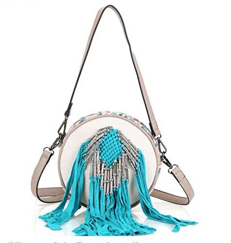 Sac à bandoulière en tissu Pinchu pour femme Boho Embossed Bag