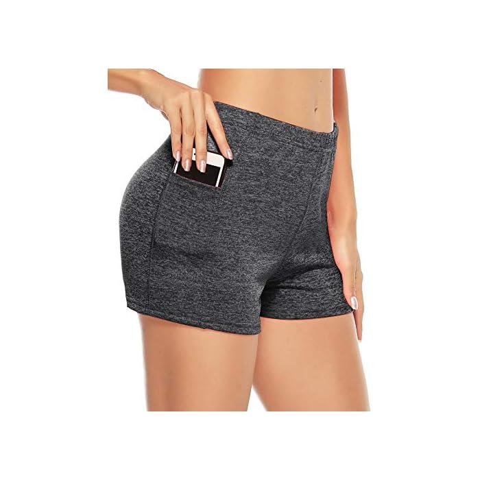 51RClZAlO0L ✔ 2 piezas Pantalones cortos: cinturilla elástica, súper suave y elástica, te mantiene fresco y cómodo. ✔ Tela: tela de secado rápido para comodidad durante todo el día y se siente muy bien en la piel 93% Poliéster, 7% Elastano