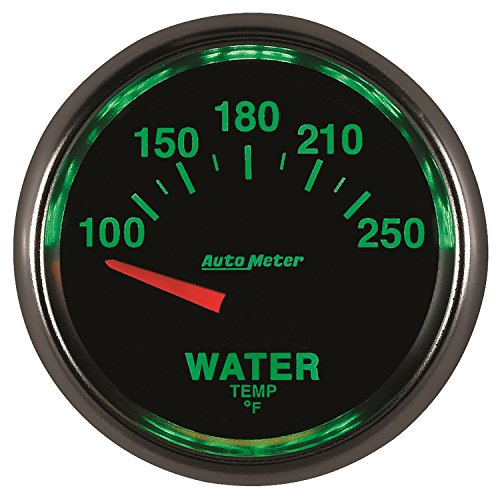 Auto Meter 3837 GS 2-1/16'' 100-250 F Short Sweep Electric Water Temperature Gauge by Auto Meter