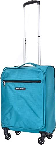 Ornate – Ultra Lightweight Carry On Luggage with Spinner Wheels. Softside Rolling Suitcase Sea Foam Green