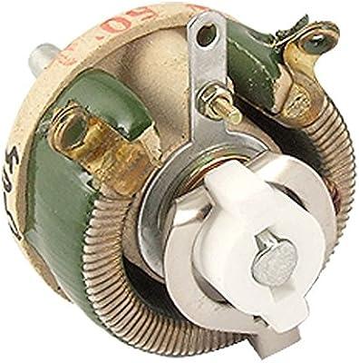 TOOGOO (R) cerámica carcasa 25 W 50ohm Resistencia Variable ...