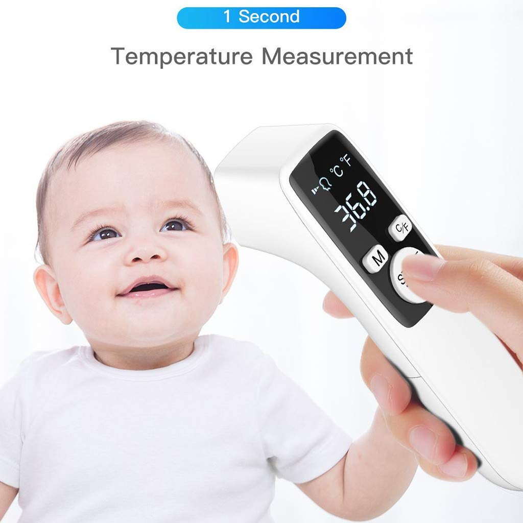 LCD Display Instant Reading,Memory Function Non-Contact Infrared Thermometer with Fever Alarm Digital Forehead Temperature Measurement