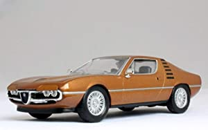 Alfa Romeo Montreal 1970 Year Brown Italian Sports Car 1/43 Scale Collectible Model Vehicle