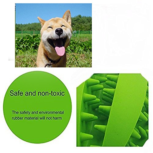 CAVN-Soft-Rubber-Toy-IQ-Treat-Ball-for-Dogs-and-Cats-Dental-Treat-and-Bite-Resistant-Durable-Non-Toxic-Strong-Tooth-Cleaning-Dog-Feed-Ball-for-Pet-IQ-Training-ChewingPlaying-Dog-Chew-Toys