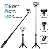 MEIDI Bluetooth Selfie Stick, Selfie Stick Tripod, 12-38 In Extendable Monopod With Wireless Remote, Waterproof Flexible Fashionable And Suitable For ALL Apple & Android & GoPro & Mini Cameras Device