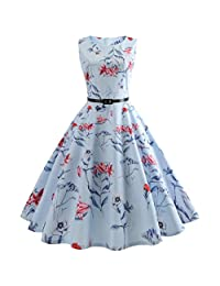 ASTV Classic Vintage Printing Evening Party Cocktail Dress Wedding Dress