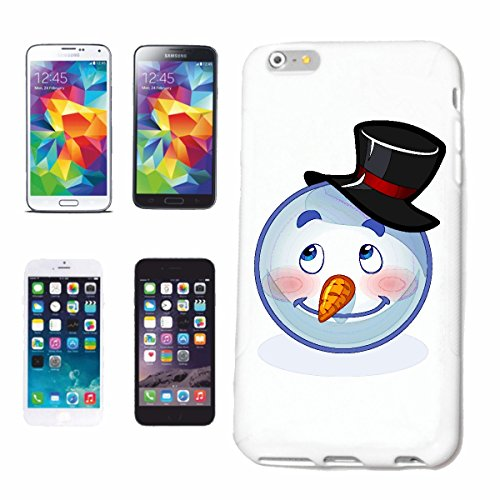 "cas de téléphone Samsung Galaxy S7 ""SNOWMAN MERRY AVEC CHAPEAU SMILEY ""sourire EMOTICON APP de SMILEYS SMILIES ANDROID IPHONE EMOTICONS IOS"" Hard Case Cover Téléphone Covers Smart Cover pour Samsung G"