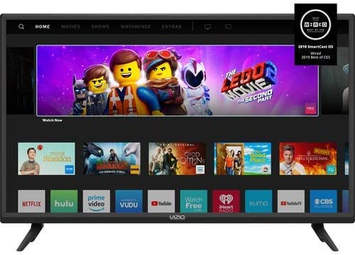 Vizio D-Seires 32inch Class 720p HD Full-Array LED Smart TV with Chromecast Built-in and SmartSolid (Renewed)
