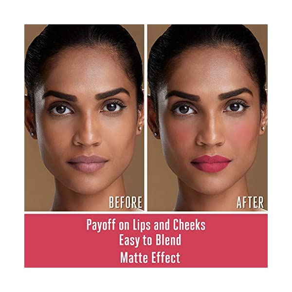 Lakme 9 to 5 Weightless Mousse Lip & Cheek Color, Plum Feather, 9 g 2021 August Mousse textured light weight lip color Can be used on lip and cheek Matte lip color