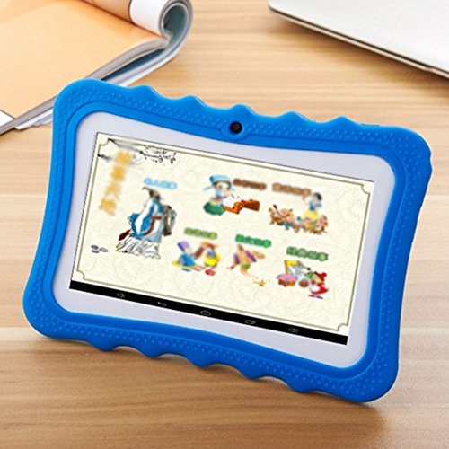 7'' Kids Tablet PC, Android 4.4 8GB ROM 1G RAM Tablet Dual Camera WiFi USB Phablet Silicone Case by XINSC (Image #1)'
