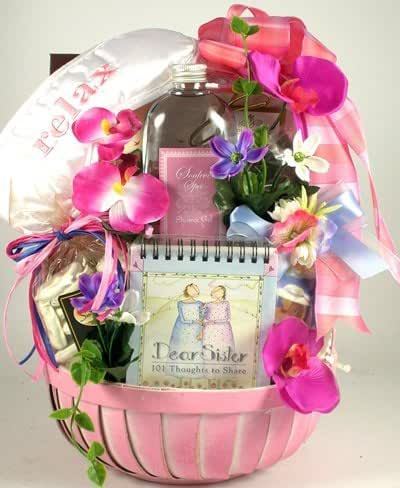 Soothing Spa Womens Gift Basket for Sisters | Beautiful Sister Gift Basket for Her