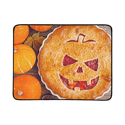 JXCSGBD Delicious Homemade Pie Halloween Filling Pumpkinstrawberry Portable and Foldable Blanket Mat 60x78 Inch Handy Mat for Camping Picnic Beach Indoor Outdoor Travel]()