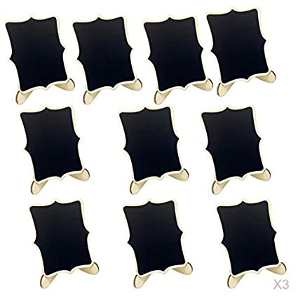 Amazon.com: MagiDeal 30-set Mini Wooden Blackboard ...