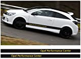 Opel OPC side decal decal stripe 2pcs. set 225cm Corsa Astra (black Ð yellow)