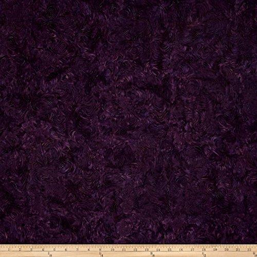 Island Batik Cotton Blender Blackberry Fabric By The (Black Batik Fabric)