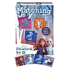 It's the classic game of picture matching, now featuring your favorite characters from frozen 2! Flip over brightly covered tiles and find beautiful pictures of sisters Anna and else, plus friends Kristoff, Olaf, Sven and more.what familiar f...