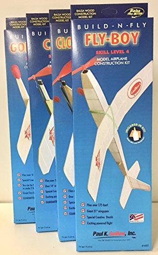 Complete Series of 4 Build-N-Fly Balsa Wood Airplanes + Bonus ()