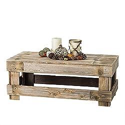 del Hutson Designs - Rustic Barnwood Coffee Table, USA Handmade Reclaimed Wood (Natural)