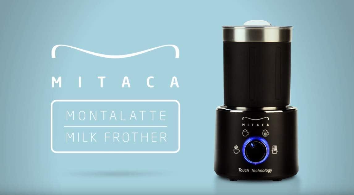 illy Mitaca Espumador de leche eléctrico, Espumador de leche Multifunción 4 en 1, Base de Iluminación de 360°, Espuma Rica para Café, Latte, Cappuccino: Amazon.es: Hogar