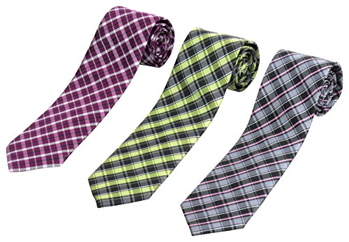 Set+of+3+Elegant+Neck+Ties+By+Mens+Collections+%28plaid%29