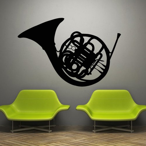 Wall Decal Sticker Music Tool Pipe Musician Wind Bell French Horn M857