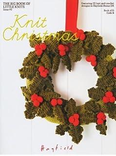 Knitting Pattern Simple Christmas Wreath Amazon Co Uk Toys Games