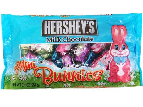 Hershey's Mini Bunnies Milk Chocolate, 9.1-Ounce Bag (Pack of (Hersheys Minis)