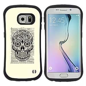 "Hypernova Slim Fit Dual Barniz Protector Caso Case Funda Para Samsung Galaxy S6 EDGE [Libro Libro Libro rústica Tinta Muerte""]"