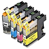 4 Pack Compatible Brother LC101 , LC103 1 Black, 1 Cyan, 1 Magenta, 1 Yellow for use with Brother DCP-J152W, MFC-J245, MFC-J285DW, MFC-J4310DW, MFC-J4410DW, MFC-J450DW, MFC-J4510DW, MFC-J4610DW, MFC-J470DW, MFC-J4710DW, MFC-J475DW, MFC-J650DW, MFC-J6520DW, MFC-J6720DW, MFC-J6920DW, MFC-J870DW, MFC-J875DW. Ink Cartridges for inkjet printers. LC101BK , LC101C , LC101M , LC101Y , LC103BK , LC103C , LC103M , LC103Y © Zulu Inks