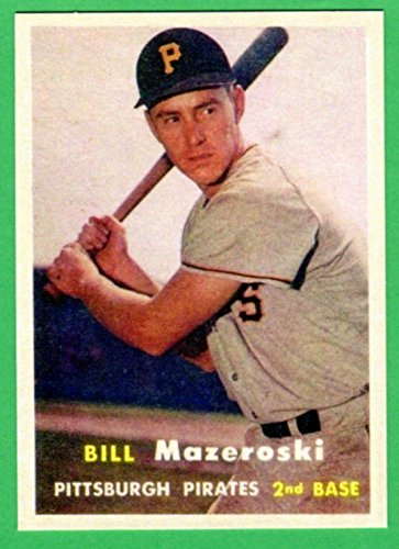 Bill Mazeroski 1957 Topps Baseball Rookie Reprint Card (Pirates)