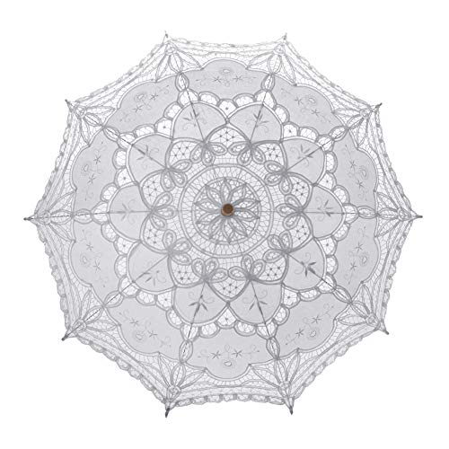 TopTie Lace Umbrella Parasol Wedding Bridal Photograph For Decoration Halloween Costume Accessories -