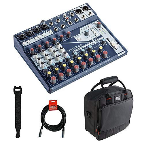 - Soundcraft Notepad-12FX Small-Format Analog Mixing Console with Gator Cases 2519 Mixer Bag, Fastener Straps (10-Pack) & XLR Cable Bundle