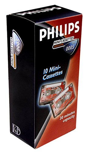 Philips 30-Minute Mini Cassette Tape - 10 Pack (Philips Tape Recorder)