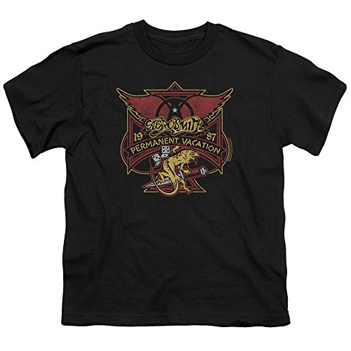 joven de Aerosmith fiesta Camiseta negro para permanente qX11Uwx